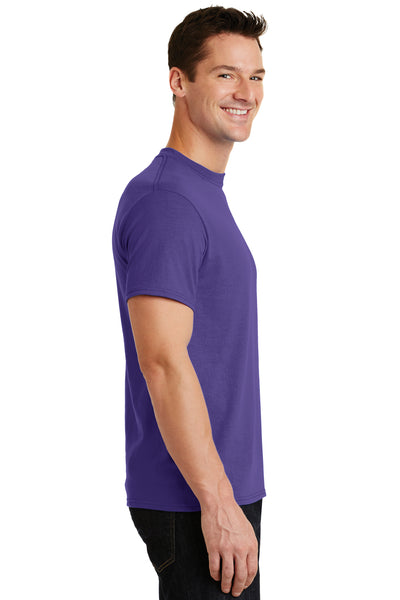 Port & Company PC55 Mens Core Short Sleeve Crewneck T-Shirt Purple Side