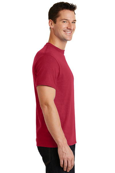 Port & Company PC55 Mens Core Short Sleeve Crewneck T-Shirt Red Side