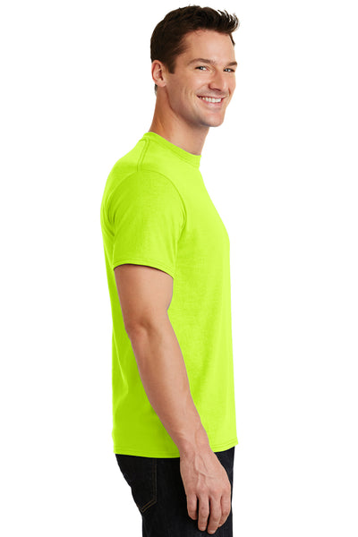 Port & Company PC55 Mens Core Short Sleeve Crewneck T-Shirt Safety Green Side