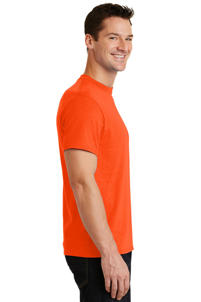 Port & Company PC55 Mens Core Short Sleeve Crewneck T-Shirt Safety Orange Side