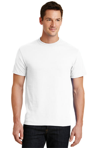 Port & Company PC55 Mens Core Short Sleeve Crewneck T-Shirt White Front
