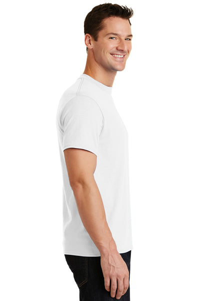 Port & Company PC55 Mens Core Short Sleeve Crewneck T-Shirt White Side