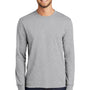 Port & Company Mens Core Long Sleeve Crewneck T-Shirt - Ash Grey