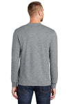 Port & Company PC55LS Mens Core Long Sleeve Crewneck T-Shirt Heather Grey Back