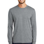 Port & Company Mens Core Long Sleeve Crewneck T-Shirt - Heather Grey
