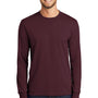 Port & Company Mens Core Long Sleeve Crewneck T-Shirt - Athletic Maroon