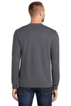 Port & Company PC55LS Mens Core Long Sleeve Crewneck T-Shirt Charcoal Grey Back