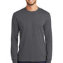 Port & Company Mens Core Long Sleeve Crewneck T-Shirt - Charcoal Grey