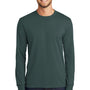 Port & Company Mens Core Long Sleeve Crewneck T-Shirt - Dark Green