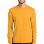 Port & Company Mens Core Long Sleeve Crewneck T-Shirt - Gold