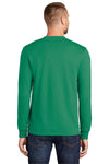 Port & Company PC55LS Mens Core Long Sleeve Crewneck T-Shirt Kelly Green Back