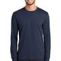 Port & Company Mens Core Long Sleeve Crewneck T-Shirt - Navy Blue