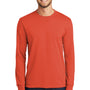 Port & Company Mens Core Long Sleeve Crewneck T-Shirt - Orange