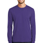 Port & Company Mens Core Long Sleeve Crewneck T-Shirt - Purple