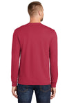 Port & Company PC55LS Mens Core Long Sleeve Crewneck T-Shirt Red Back