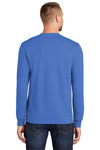Port & Company PC55LS Mens Core Long Sleeve Crewneck T-Shirt Royal Blue Back
