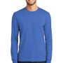 Port & Company Mens Core Long Sleeve Crewneck T-Shirt - Royal Blue