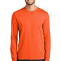 Port & Company Mens Core Long Sleeve Crewneck T-Shirt - Safety Orange