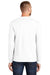Port & Company PC55LS Mens Core Long Sleeve Crewneck T-Shirt White Back