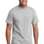 Port & Company Mens Core Short Sleeve Crewneck T-Shirt w/ Pocket - Ash Grey