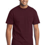 Port & Company Mens Core Short Sleeve Crewneck T-Shirt w/ Pocket - Athletic Maroon
