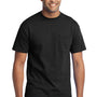 Port & Company Mens Core Short Sleeve Crewneck T-Shirt w/ Pocket - Jet Back