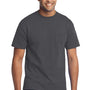 Port & Company Mens Core Short Sleeve Crewneck T-Shirt w/ Pocket - Charcoal Grey