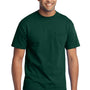 Port & Company Mens Core Short Sleeve Crewneck T-Shirt w/ Pocket - Dark Green
