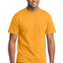 Port & Company Mens Core Short Sleeve Crewneck T-Shirt w/ Pocket - Gold