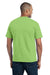 Port & Company PC55P Mens Core Short Sleeve Crewneck T-Shirt w/ Pocket Lime Green Back