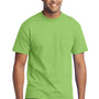 Port & Company Mens Core Short Sleeve Crewneck T-Shirt w/ Pocket - Lime Green