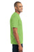 Port & Company PC55P Mens Core Short Sleeve Crewneck T-Shirt w/ Pocket Lime Green Side