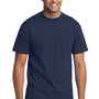 Port & Company Mens Core Short Sleeve Crewneck T-Shirt w/ Pocket - Navy Blue