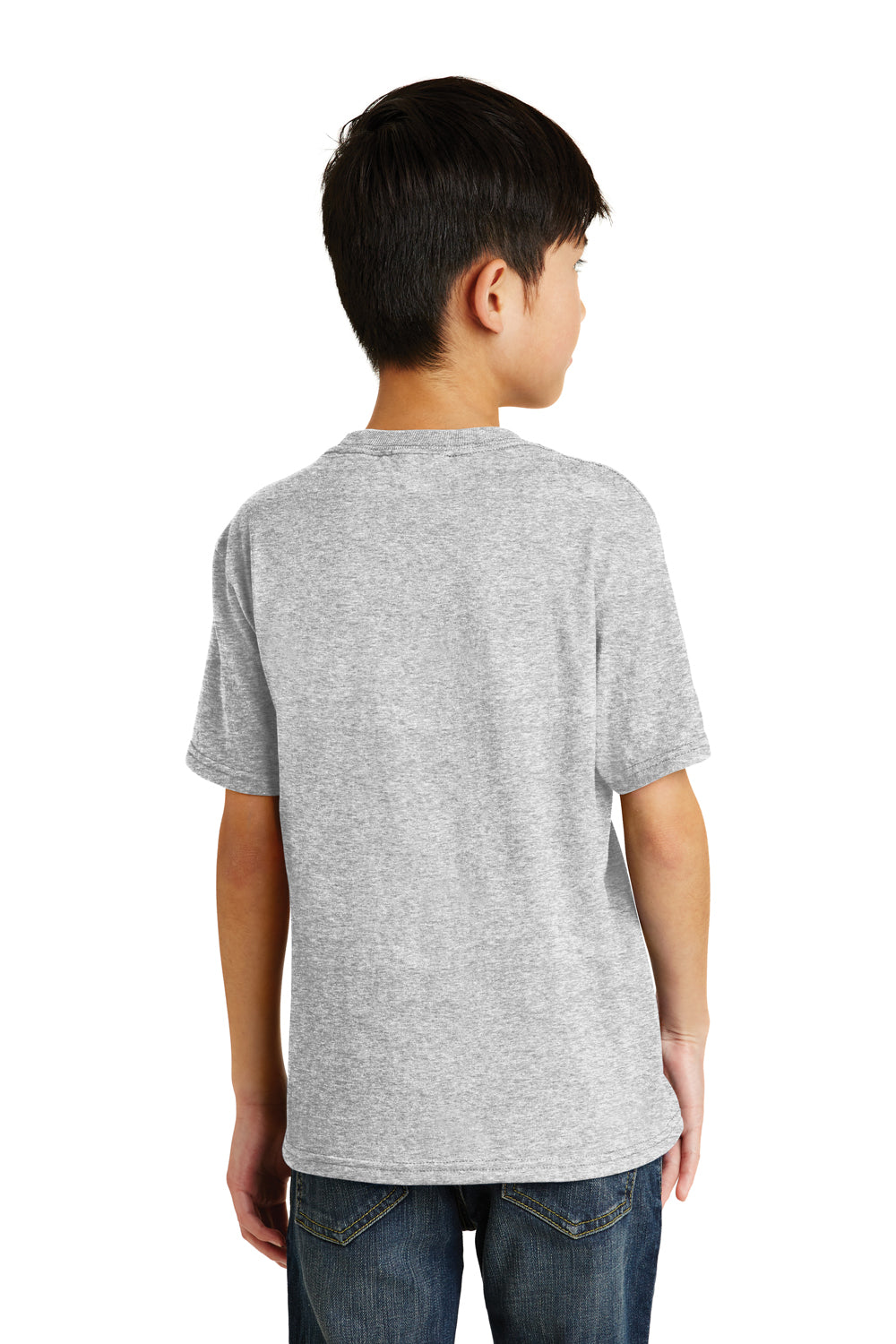 Port & Company PC55Y Youth Core Short Sleeve Crewneck T-Shirt Ash Grey Back