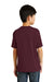 Port & Company PC55Y Youth Core Short Sleeve Crewneck T-Shirt Maroon Back
