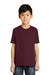Port & Company PC55Y Youth Core Short Sleeve Crewneck T-Shirt Maroon Front