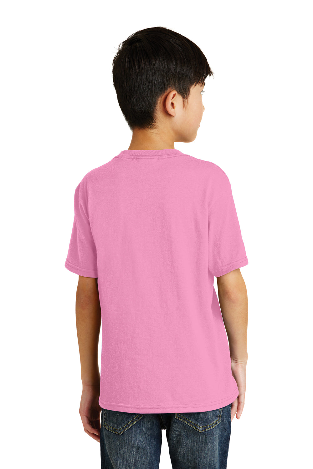 Port & Company PC55Y Youth Core Short Sleeve Crewneck T-Shirt Candy Pink Back