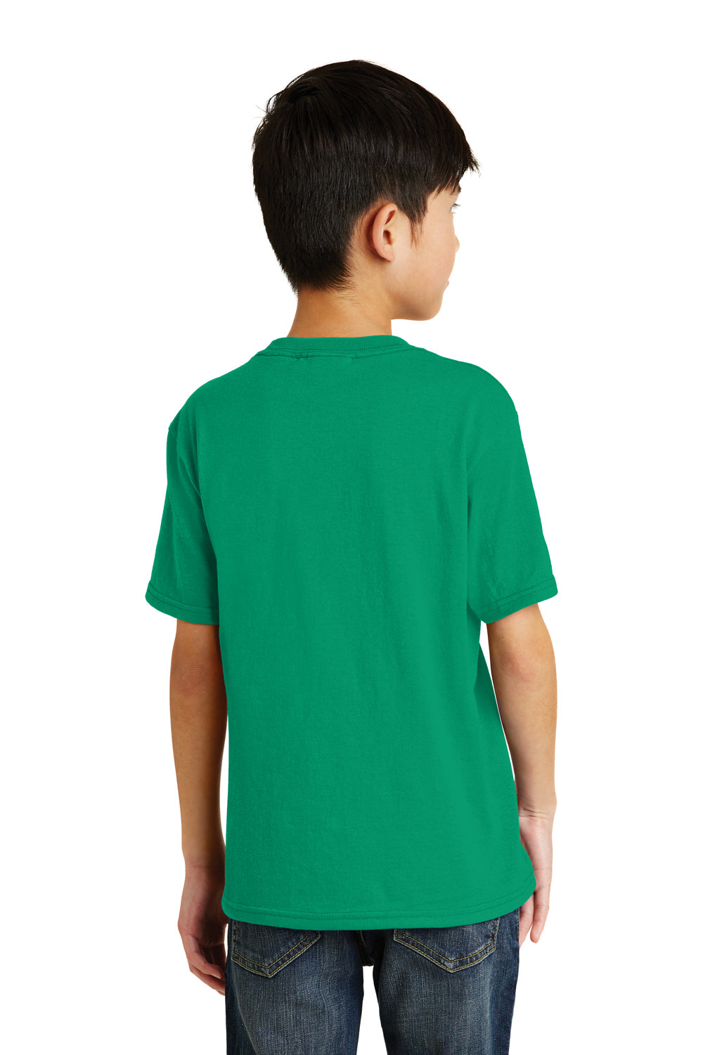 Port & Company PC55Y Youth Core Short Sleeve Crewneck T-Shirt Kelly Green Back