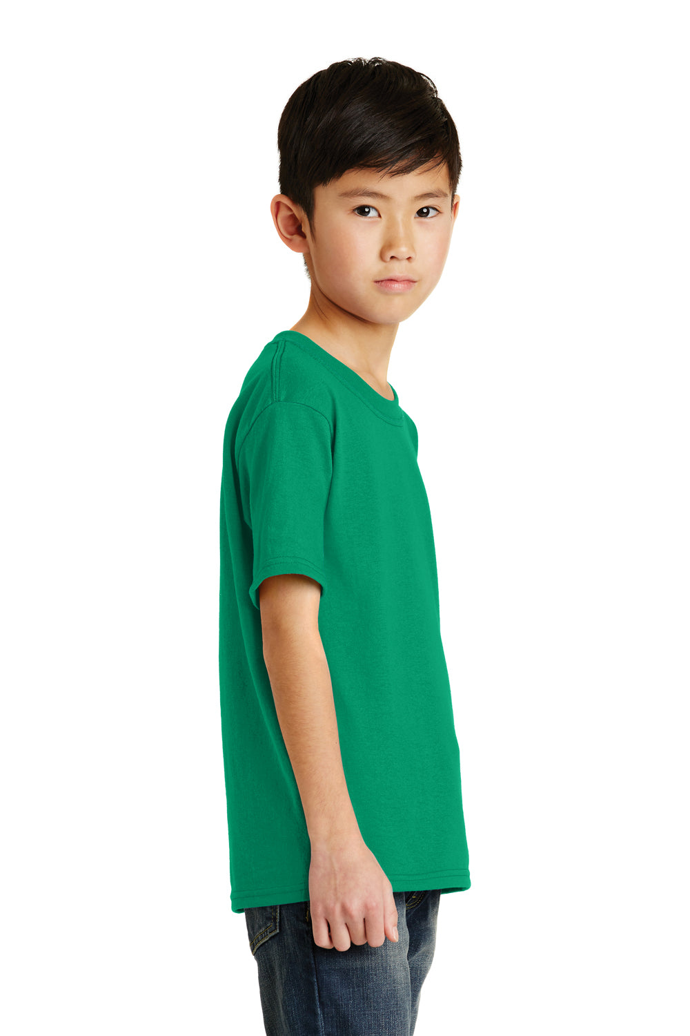 Port & Company PC55Y Youth Core Short Sleeve Crewneck T-Shirt Kelly Green Side