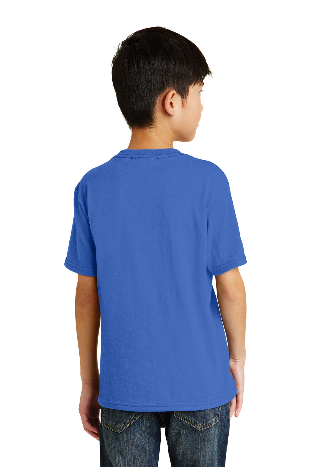Port & Company PC55Y Youth Core Short Sleeve Crewneck T-Shirt Royal Blue Back