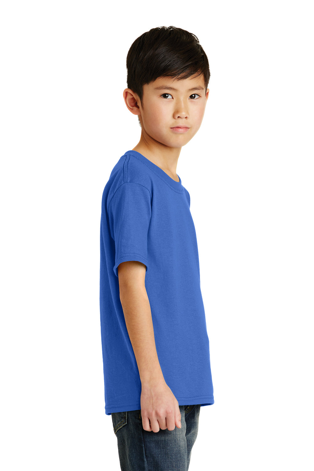 Port & Company PC55Y Youth Core Short Sleeve Crewneck T-Shirt Royal Blue Side