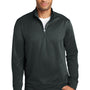 Port & Company Mens Dry Zone Performance Moisture Wicking Fleece 1/4 Zip Sweatshirt - Jet Back