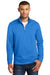 Port & Company PC590Q Mens Dry Zone Performance Moisture Wicking Fleece 1/4 Zip Sweatshirt Royal Blue Front