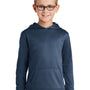 Port & Company Youth Dry Zone Performance Moisture Wicking Fleece Hooded Sweatshirt Hoodie - Deep Navy Blue