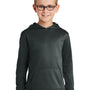 Port & Company Youth Dry Zone Performance Moisture Wicking Fleece Hooded Sweatshirt Hoodie - Jet Back