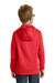 Port & Company PC590YH Youth Dry Zone Performance Moisture Wicking Fleece Hooded Sweatshirt Hoodie Red Back