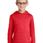 Port & Company Youth Dry Zone Performance Moisture Wicking Fleece Hooded Sweatshirt Hoodie - Red