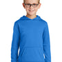 Port & Company Youth Dry Zone Performance Moisture Wicking Fleece Hooded Sweatshirt Hoodie - Royal Blue