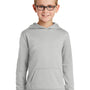 Port & Company Youth Dry Zone Performance Moisture Wicking Fleece Hooded Sweatshirt Hoodie - Silver Grey