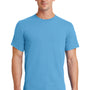 Port & Company Mens Essential Short Sleeve Crewneck T-Shirt - Aquatic Blue